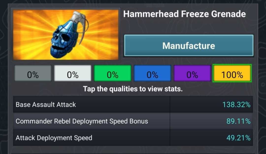 Hammerhead Freeze Grenade